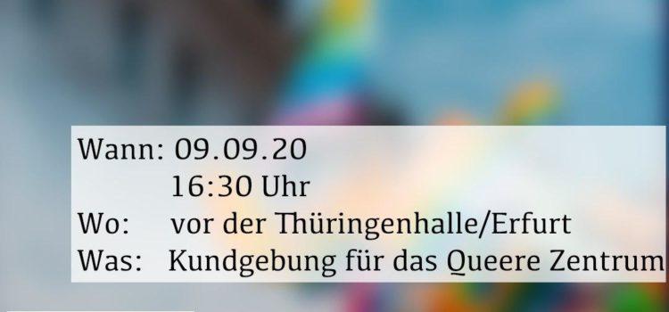 Queercornern - Kundgebung für das Queere Zentrum Erfurt