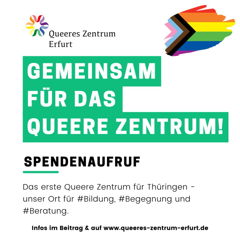 Spendenaufruf Queeres Zentrum Erfurt